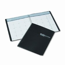 Academic Ruled Monthly Planner, 14-Month July-August, 8-1/2 x 11, Black