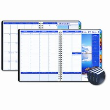 Earthscapes Executive Hardcover Weekly/Monthly Planner, 8-1/2 x 11, Black, 2013