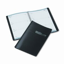 Weekly Appointment Book, 30-Minute Appointments, 5 x 8, Black