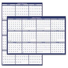 Laminated Reversible Planner Wall Calendar