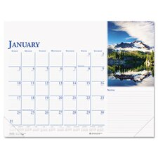 Earthscapes Monthly Desk Pad Calendar, 18-1/2 x 13, 2012