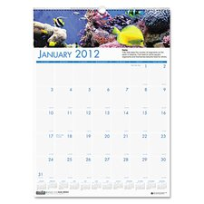 Sea Life Scenes Monthly Wall Calendar, 12 x 16-1/2, 2013