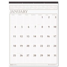 Large Print Monthly Wall Calendar in Punched Leatherette Binding, 20 x 26, 2014