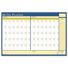 Nondated Reversible Laminated Organizer, 30/60 Day