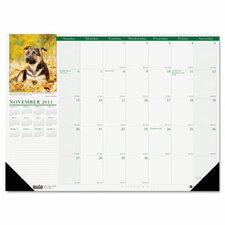 <strong>House of Doolittle</strong> Puppies Photographic Monthly Desk Pad Calendar, 18 1/2 x 13