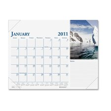 Earthscapes Photographic Monthly Desk Pad Calendar, 22 x 17, 2013
