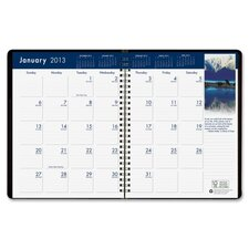 Earthscapes Wirebound Monthly Planner