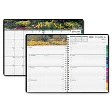 Gardens of the World Weekly/Monthly Planner, 7 x 10, Black, 2012