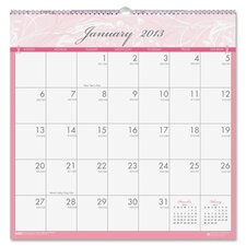 Breast Cancer Awareness Monthly Wall Calendar, 12 x 12, 2012