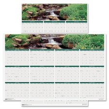 Earthscapes Waterfalls of the World Reverse/Erase Yearly Wall Calendar, 24 x 37, 2012