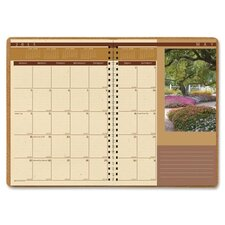 Landscapes Full-Color Monthly Planner, Ruled, 7 x 10, Brown, 2012
