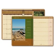 Landscapes Weekly/Monthly Planner, 8-1/2 x 11, Brown, 2012