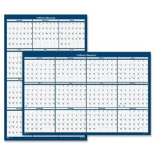 Poster Style Reversible/Erasable Yearly Wall Calendar, 32 x 48, 2013