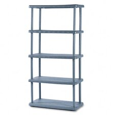 <strong>Iceberg Enterprises</strong> Rough N Ready 5 Shelf Open Storage System, Resin, 36W X 18D X 74H