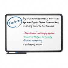 "<strong>Iceberg Enterprises</strong> Premium Coated Styrene Black Frame Dry Erase Board 24"" x 36"""