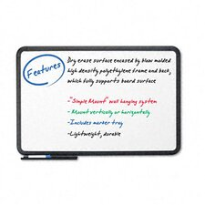"Ingenuity Black Resin Frame With Tray Dry Erase Board 36"" x 48"""