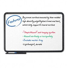 "Ingenuity Black Resin Frame With Tray Dry Erase Board 42"" x 66"""