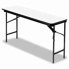 "Iceberg Premium Wood Laminate 72"" Rectangular Folding Table"