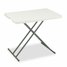 <strong>Iceberg Enterprises</strong> Indestruc-Tables Too Personal Folding Table, 30w x 20d, Platinum