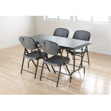 Folding Chair in Charcoal (Pack of 4)