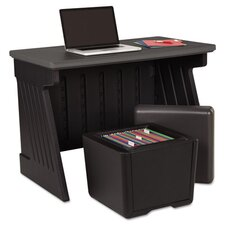 <strong>Iceberg Enterprises</strong> SnapEase Desk and Ottoman