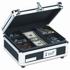 Vaultz Plastic and Steel Cash Box with Tumbler Lock