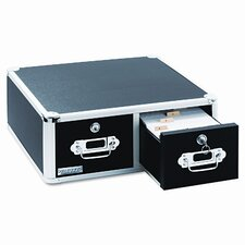 Vaultz Vaultz Locking 6 X 4 Two-Drawer Index Card Box