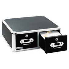 <strong>Ideastream Products</strong> Vaultz Vaultz Locking 6 X 4 Two-Drawer Index Card Box