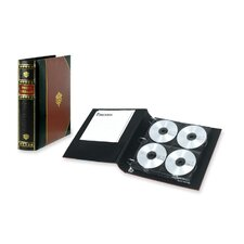 CD Binder,Media Storage,128 Cap.,Burgundy Cover/Black Spine