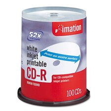 CD-R Disc, 700Mb/80Min, 52X, Spindle, 100/Pack (Set of 2)
