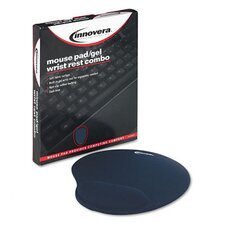 Mouse Pad with Gel Wrist Pad, Nonskid Base