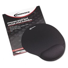 <strong>Innovera®</strong> Mouse Pad with Gel Wrist Pad, Nonskid Base, 10-3/8 X 8-7/8