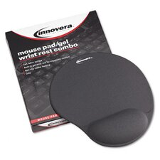 Mouse Pad with Gel Wrist Pad