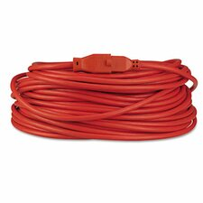 Indoor/Outdoor Heavy-Duty Extension Cord, 100 Feet, Orange