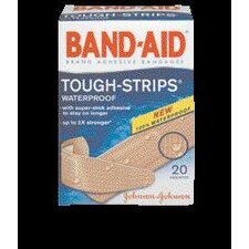 BAND-AID® Tough Strips™ Waterproof Bandages (20 Per Box)