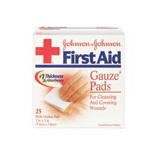 "X 3"" RED CROSS® Sterile Gauze Pad (24 Per Box)"