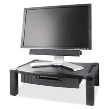 Height Adjustable Monitor Stand with Drawer
