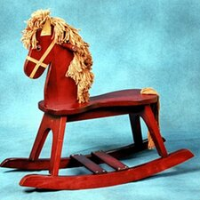 PlayTyme Child's Rocking Horse in Cherry