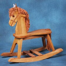 PlayTyme Child's Rocking Horse in Oak