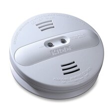 <strong>Kidde Fire and Safety</strong> Smoke Alarm, Photo/Ion, Dual Sensor, Batt Opr, White