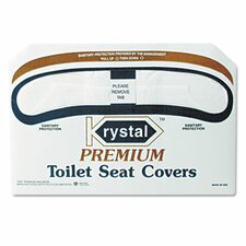 <strong>Krystal</strong> Boardwalk Premium Half-Fold Toilet Seat Covers, 250 Covers/Box, 10 Boxes/Carton