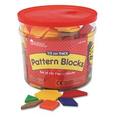 Pattern Blocks, Grades Pre-K and Up 250 Piece Set