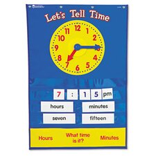 Teaching Time Pocket Chart with 67 Cards