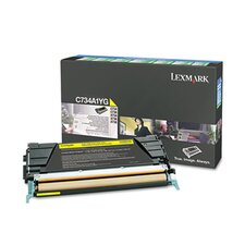 C734A1YG Toner, 6000 Page-Yield, Yellow