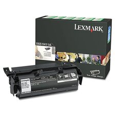 X651H11A High-Yield Return Program Toner, 25000 Page-Yield