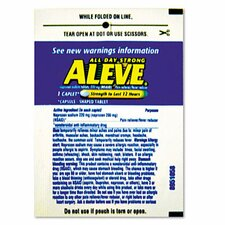 Aleve Pain Reliever Tablets Refill Packs, 30 Packs/Box