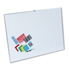 <strong>Magna Visual, Inc.</strong> Lustreboard Planning Kit, Porcelain-on-Steel, 48x36, White/Aluminum