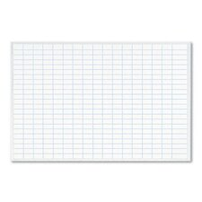 <strong>Magna Visual, Inc.</strong> Planning Board, 1 x 2 Grid, Porcelain-on-Steel, 36 x 24, Blue/White