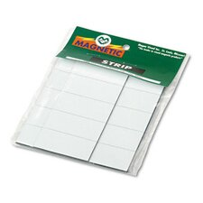 Magnetic Write-On/Wipe-Off Pre-Cut Strips, 2 x 7/8, White, 25 per Pack