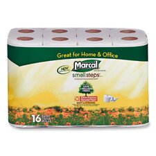 <strong>Marcal Paper Mills, Inc.</strong> Bath Tissue, 2-Ply, 168 Sheets/Roll, 16 Rolls/PK, White